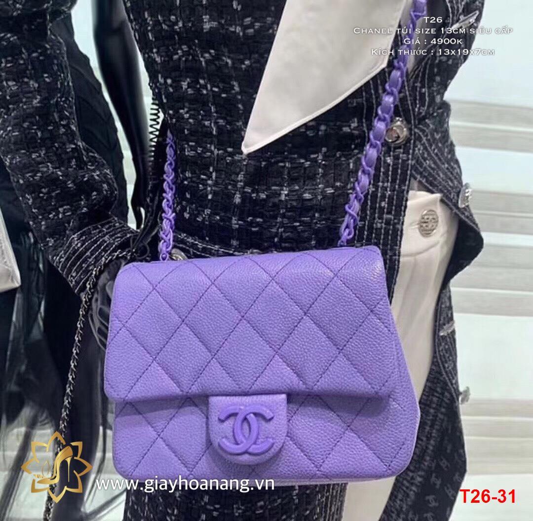 T26-31 Chanel túi size 13cm siêu cấp