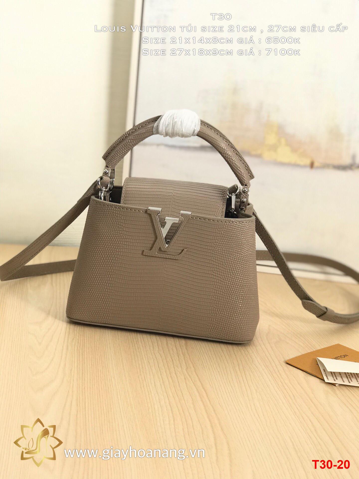 T30-20 Louis Vuitton túi size 21cm , 27cm siêu cấp