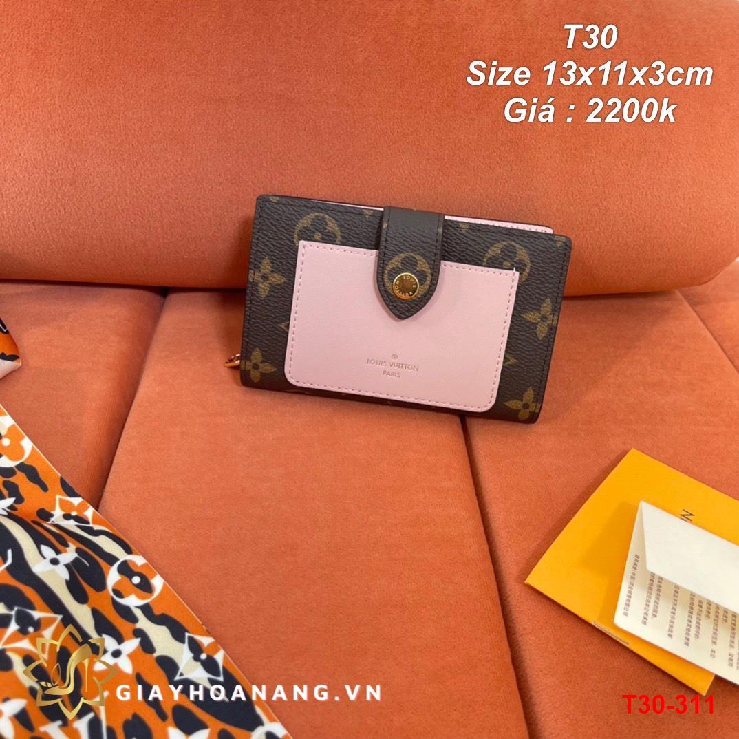 T30-311 Louis Vuitton ví size 13cm siêu cấp