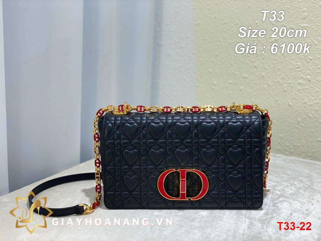 T33-22 Dior túi size 20cm siêu cấp