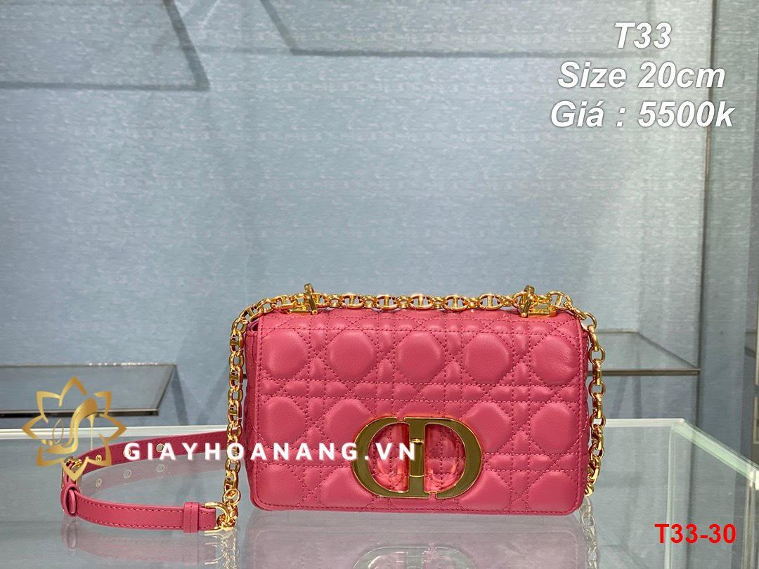 T33-30 Dior túi size 20cm siêu cấp