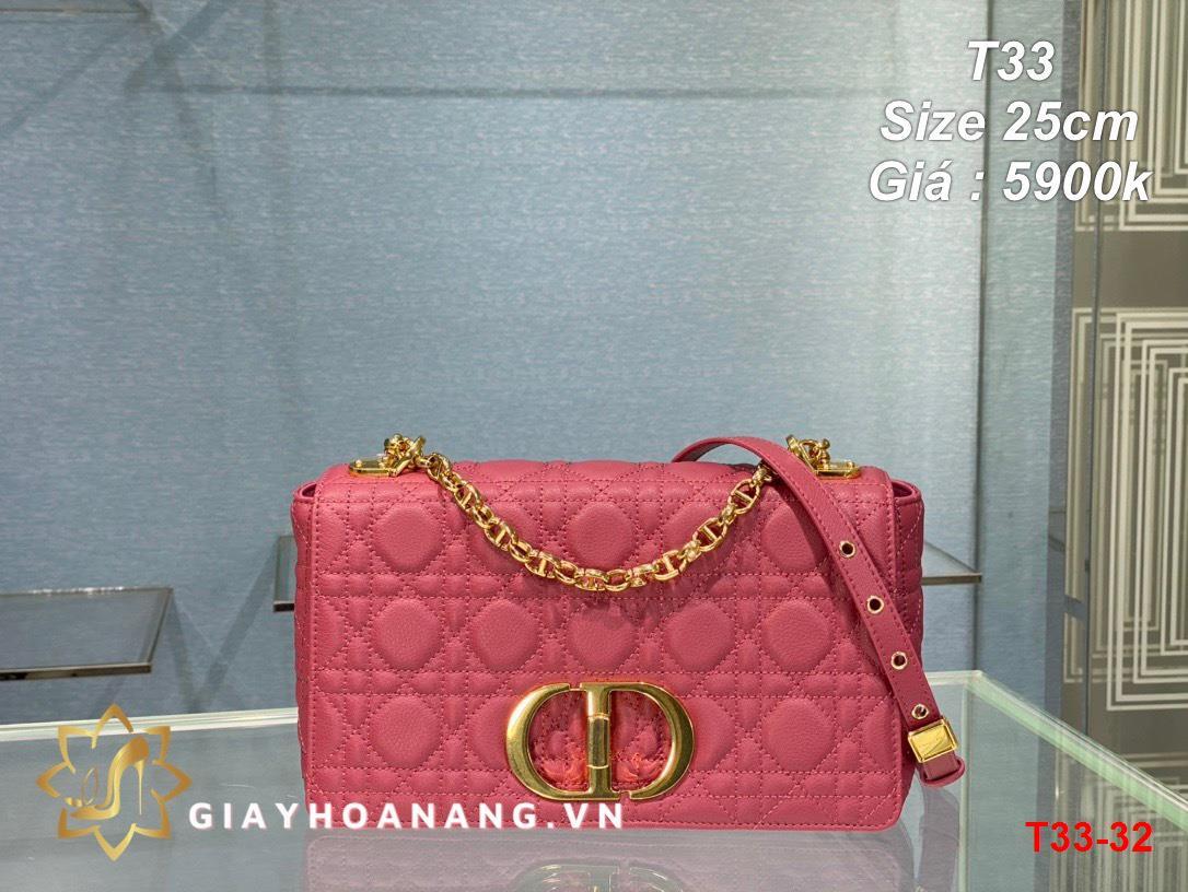 T33-32 Dior túi size 25cm siêu cấp