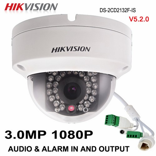 Camera IP Dome Wifi DS-2CD2132F-IWS hồng ngoại 3 MP