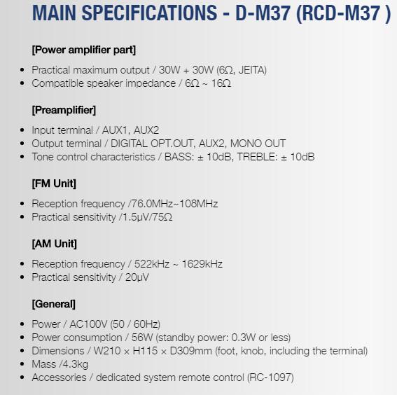DENON RCD M37