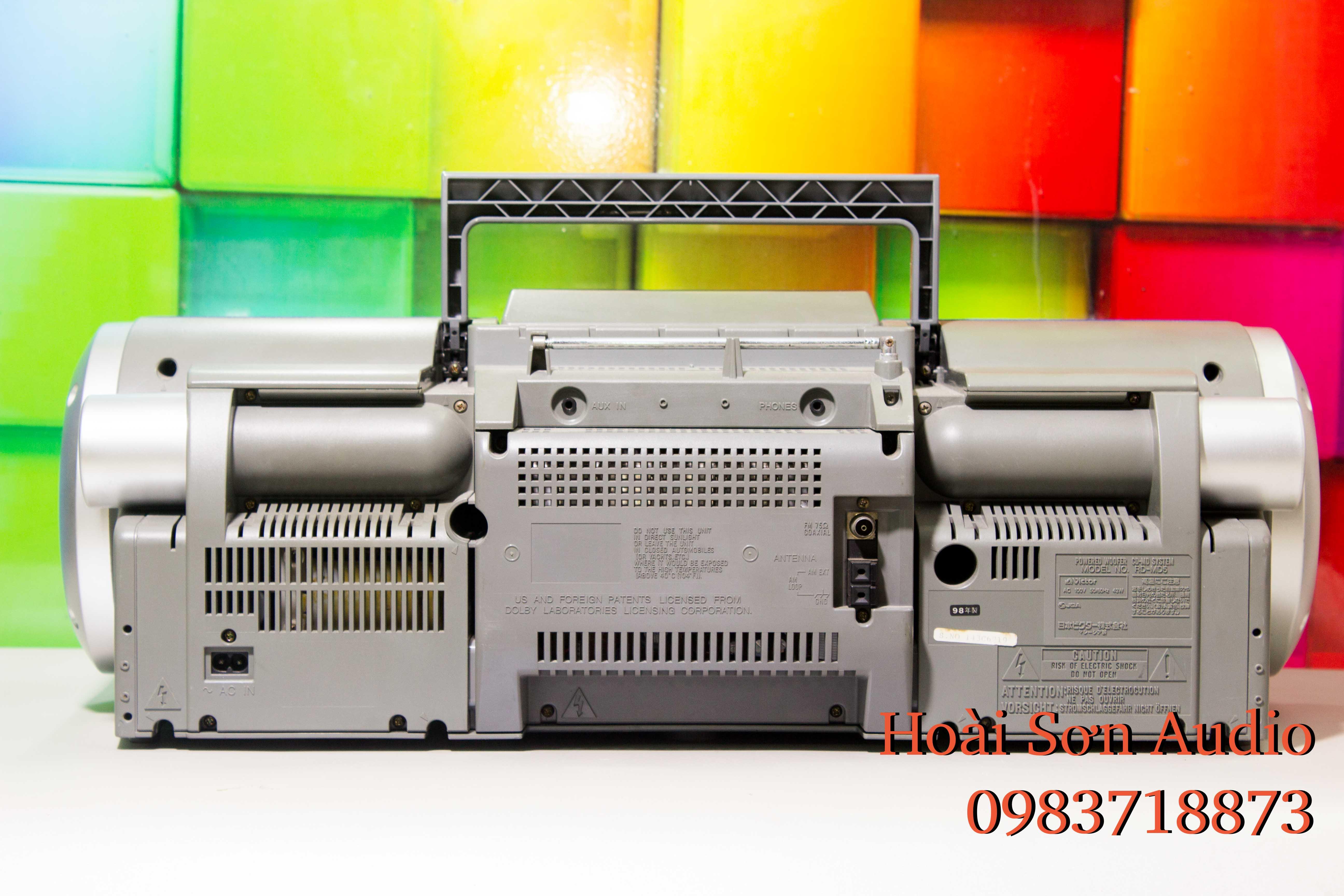 BOOMBOX VICTOR MD5 - DÒNG SERI ĐÌNH ĐÁM CỦA VICTOR