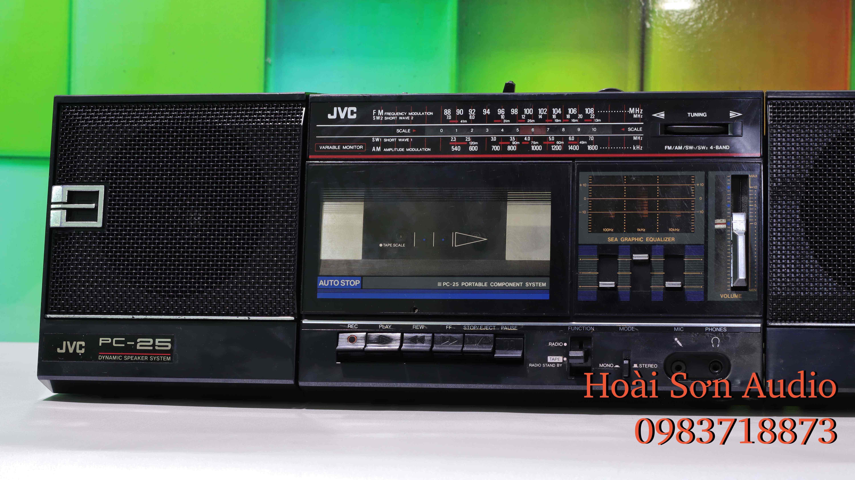 ĐÀI CASSETTE CỔ JVC PC25