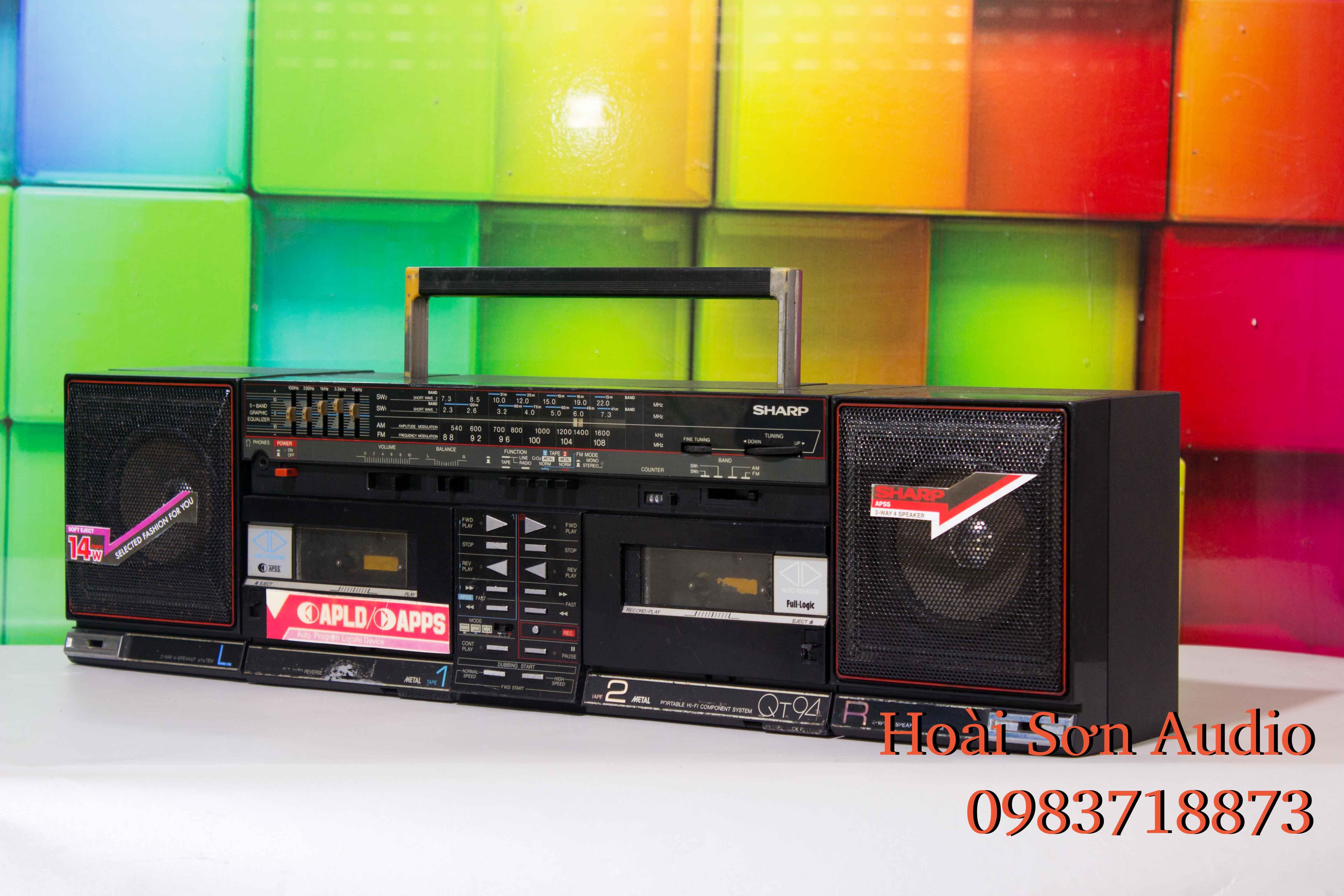 ĐÀI CASSETTE CỔ RADIO SHARP QT94