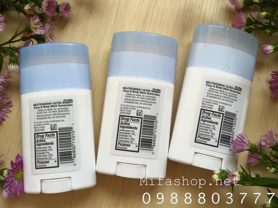 Lăn chống nắng Neutrogen ultra sheer face and body spf70