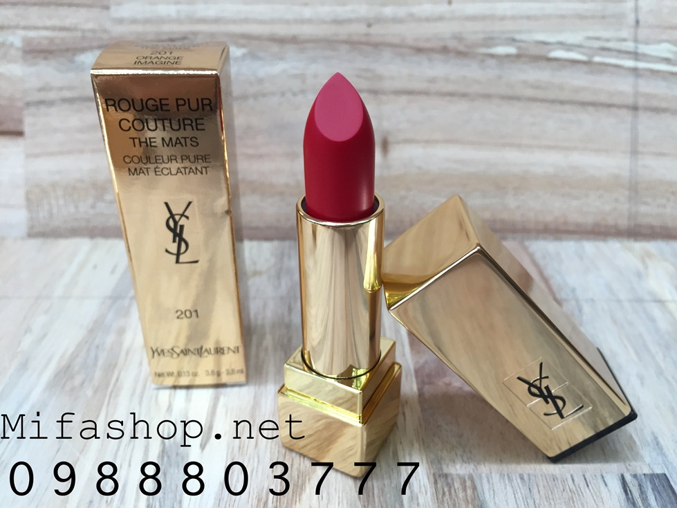 SON YSL ROUGE PUR COUTURE THE MATS 201 ORANGE IMAGINE