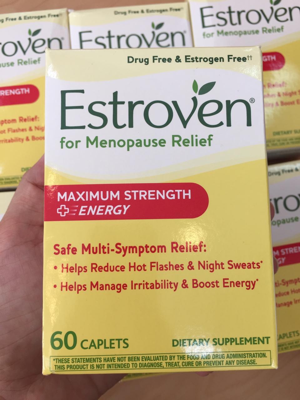 Viên uống cân bằng nội tiết cho phụ nữ Estroven Maximum strength hộp 60 viên của Mỹ