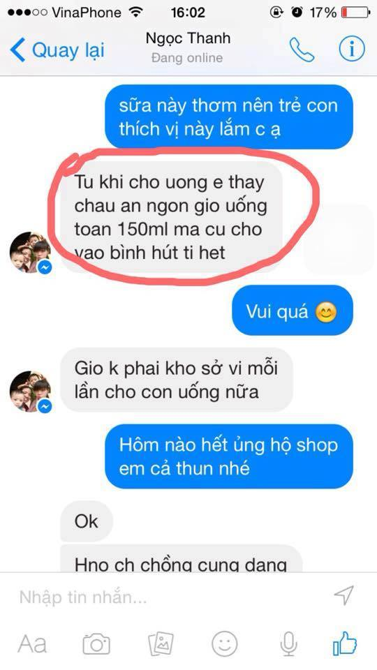 sua tang can cho be