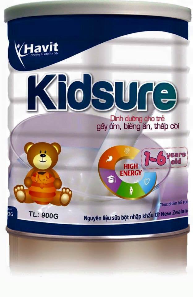 Sữa Havit Kidsure dành cho trẻ thấp còi suy dinh dưỡng (900gr)