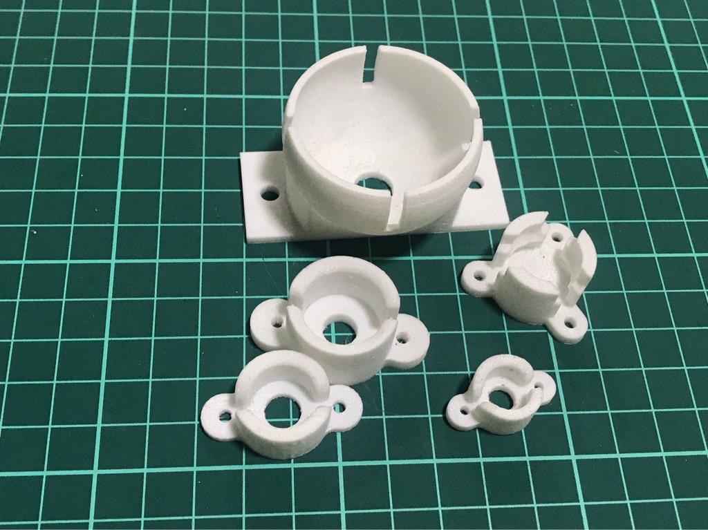 Bánh xe đa hướng nhiều cỡ nhựa in 3D