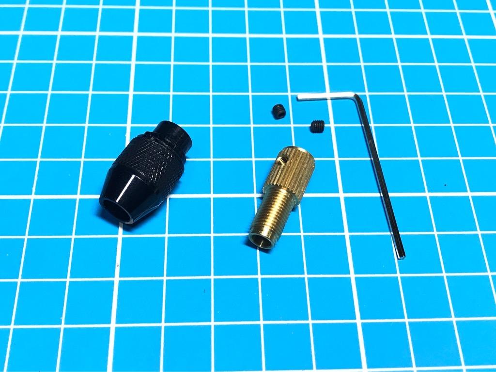 Đầu kẹp mũi khoan đa năng 0,3-3,2mm trục 3.17mm