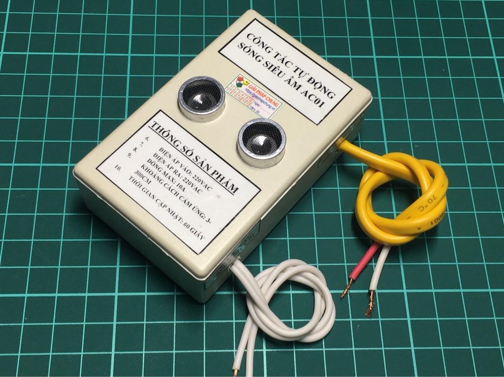 Thiết bị bật tắt quạt đèn tự động bằng sóng siêu âm AC01