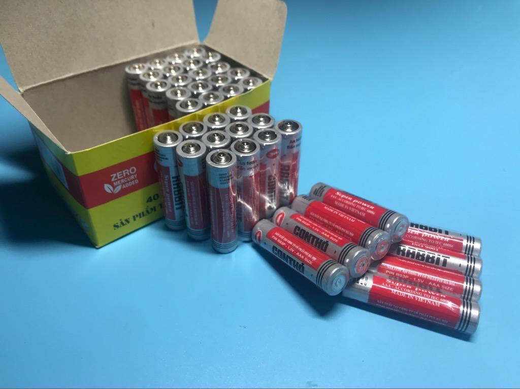 Pin đũa AAA 1.5V 1 hộp 40 viên