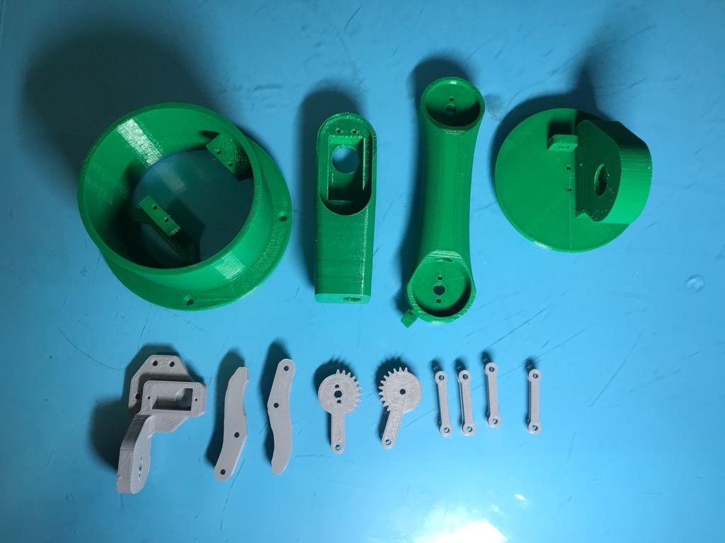 Bộ cánh tay robot 5 bậc tự do nhựa in 3D