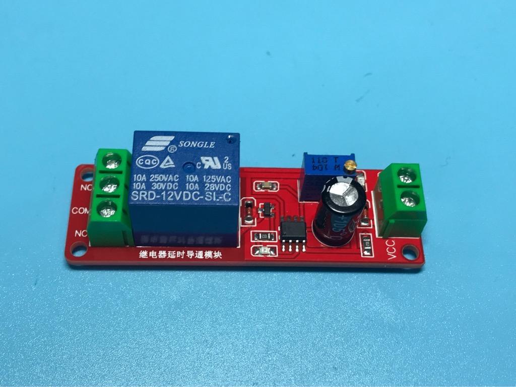 Module hẹn giờ trễ đóng relay dùng IC NE555