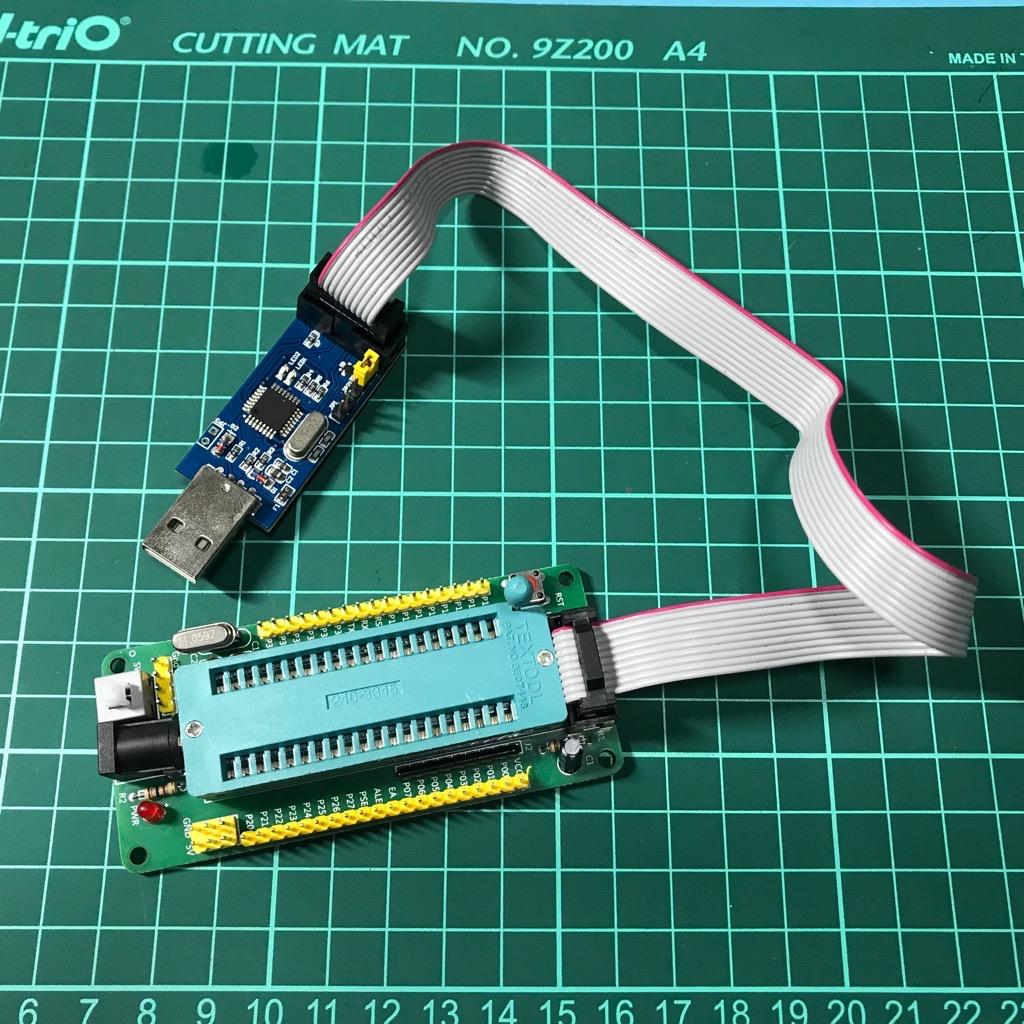 Bộ kit nạp 8051 cho IC AT89S52 AT89S51 ISP USB ASP
