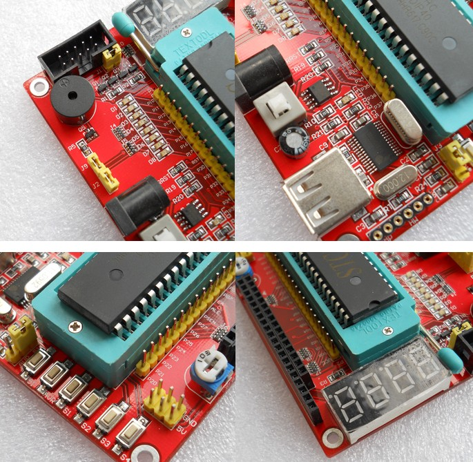 Bộ nạp thực hành 8051 cho IC AT 89s52-51 89C52-51