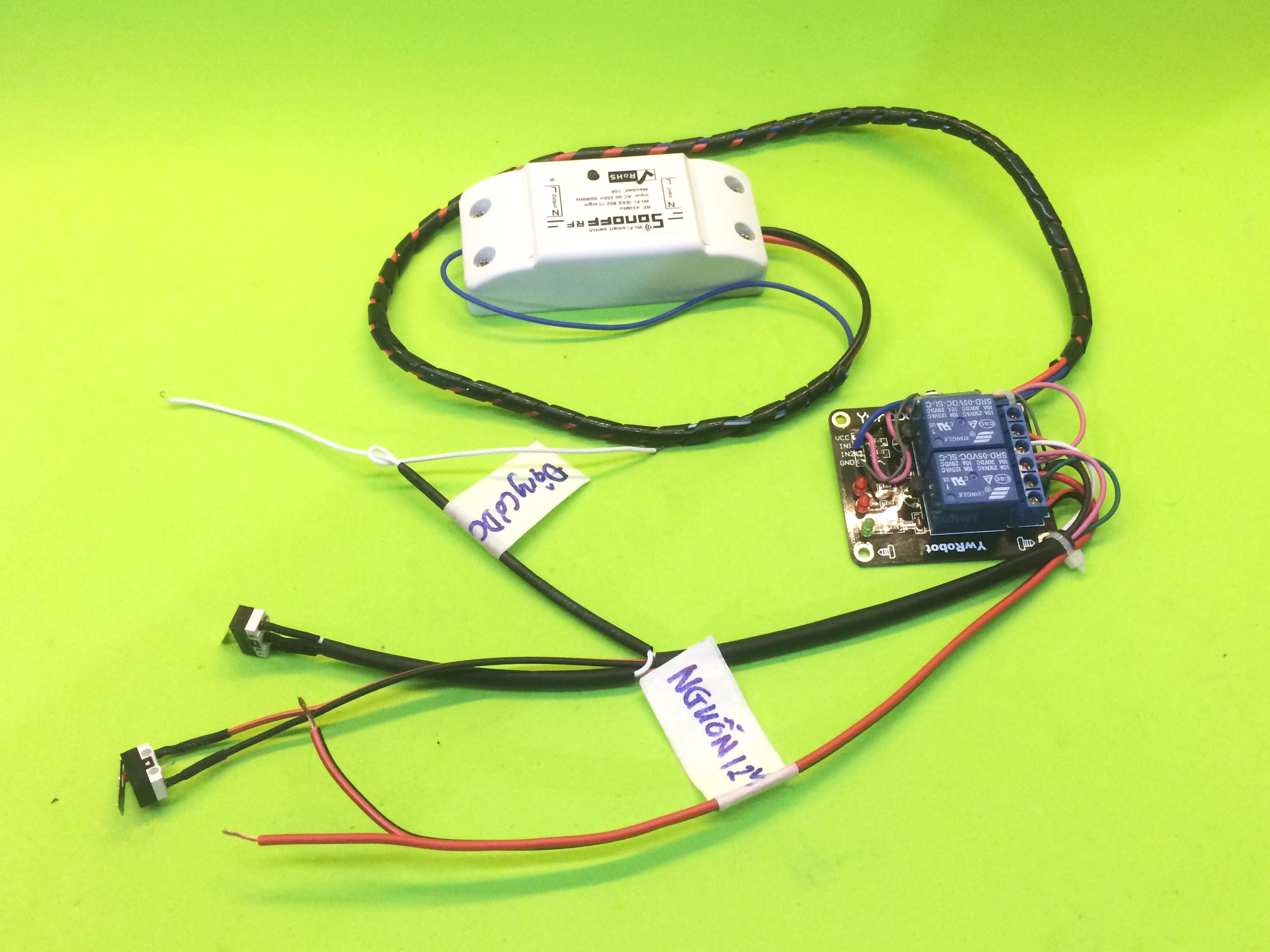 Bộ đảo chiều động cơ DC dùng wifi điều khiển từ xa PB6