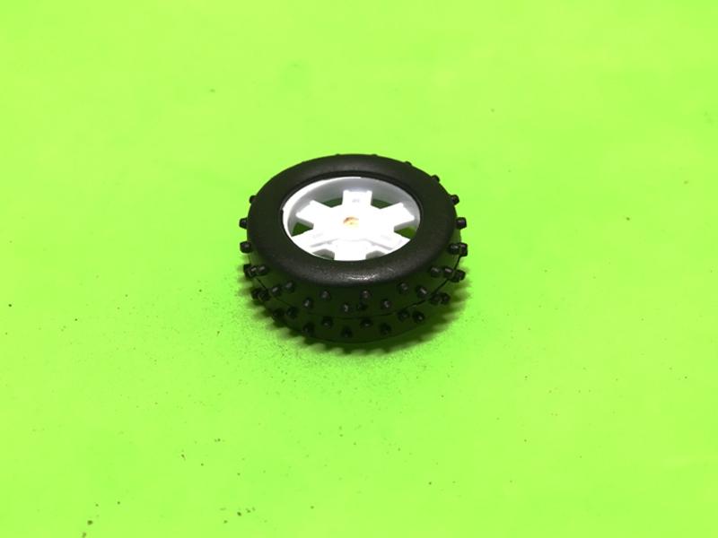 Bánh xe nhựa đường kính 37mm lỗ trục 2mm