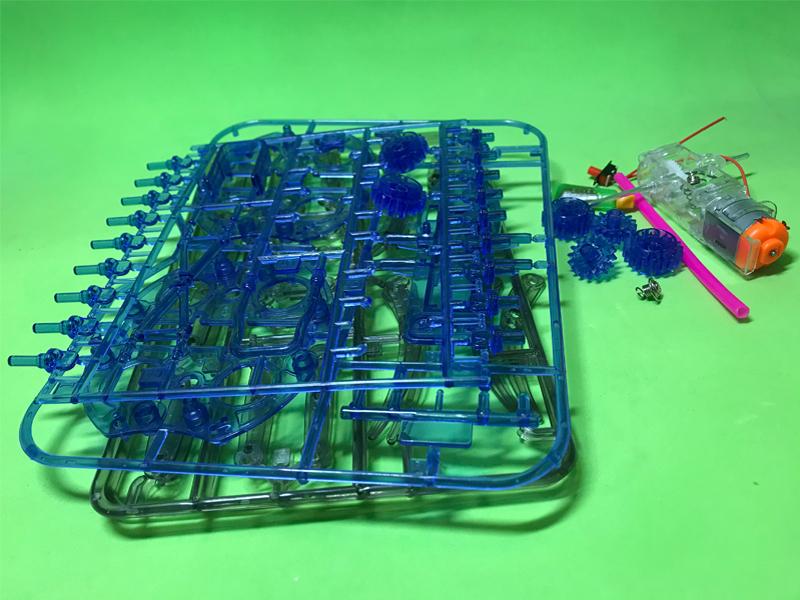 Bộ lắp ráp robot nhện 8 chân dùng động cơ DC