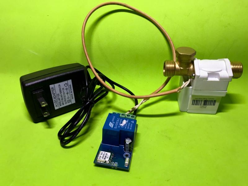 Bộ van nước điều khiển từ xa bằng điện thoại qua Wifi 220V