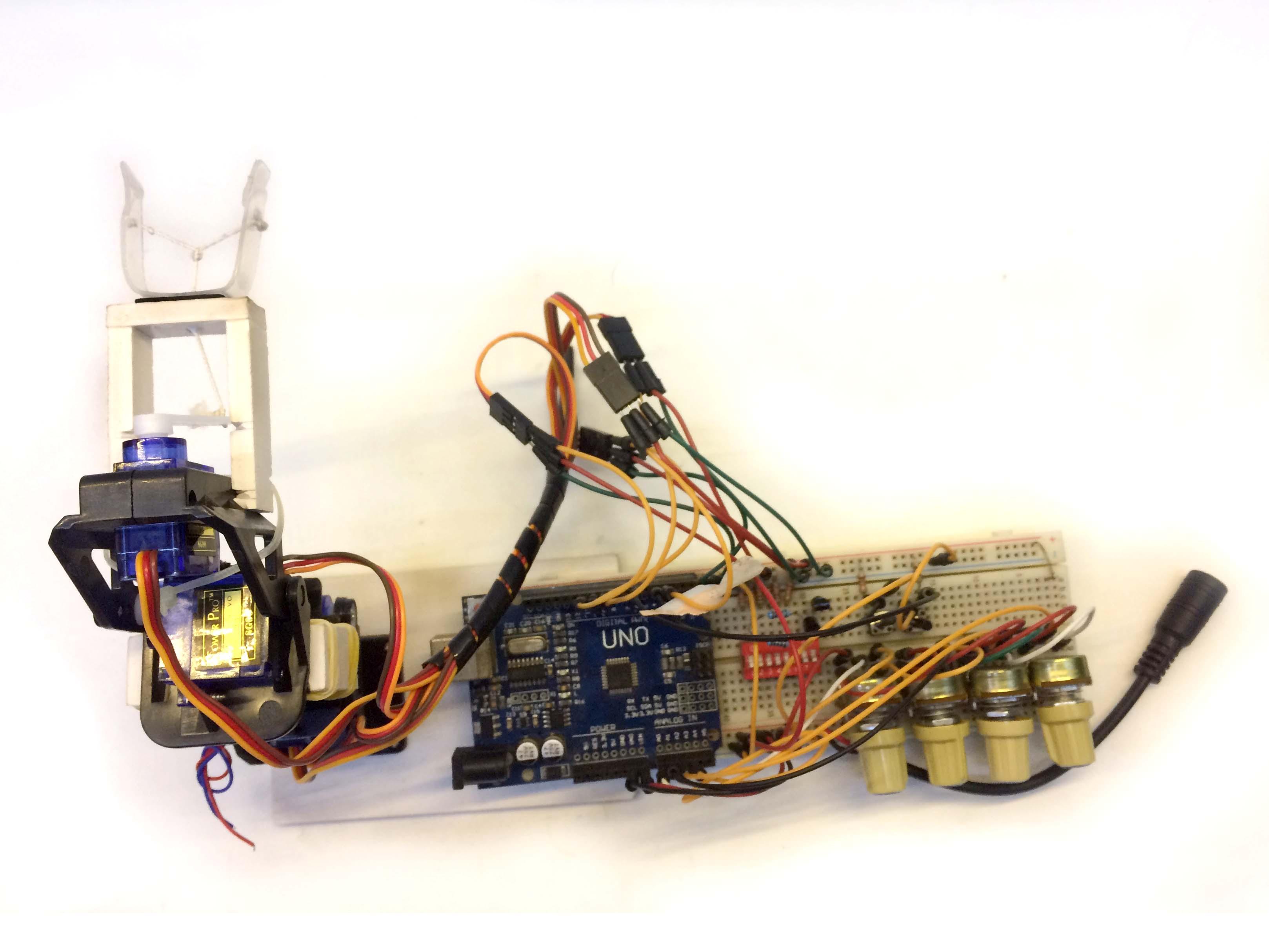 Cánh tay Robot dùng arduino-bộ học tập