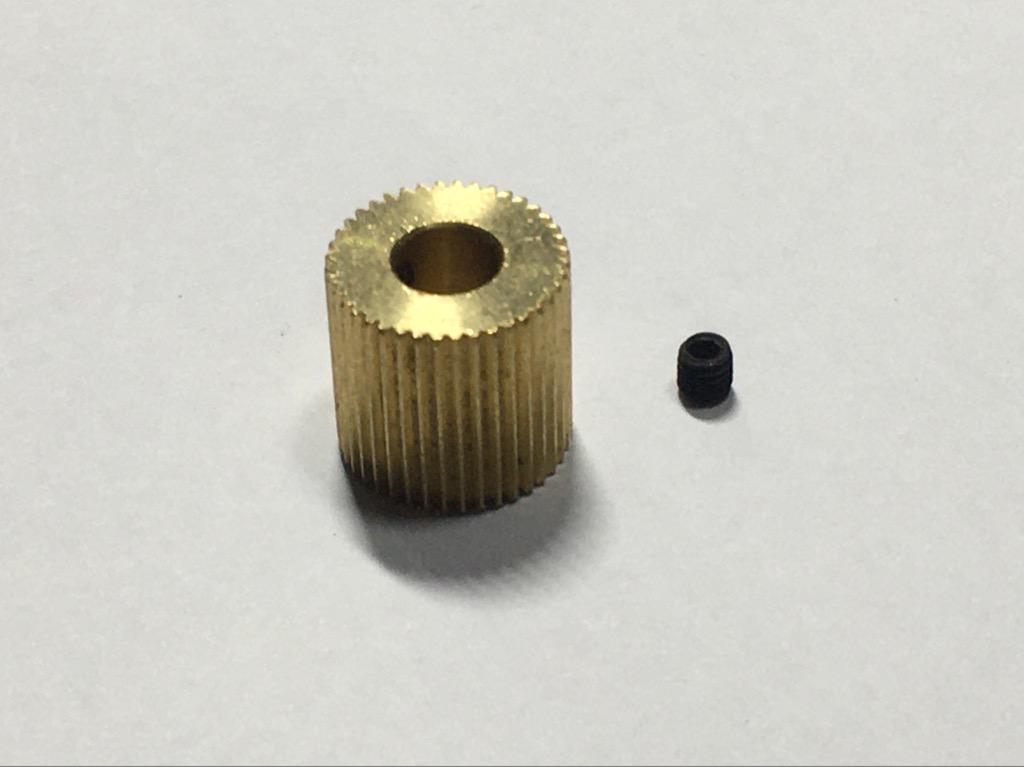 Bánh xe đùn nhựa cho máy in 3D 40 răng 12mm lỗ 5mm