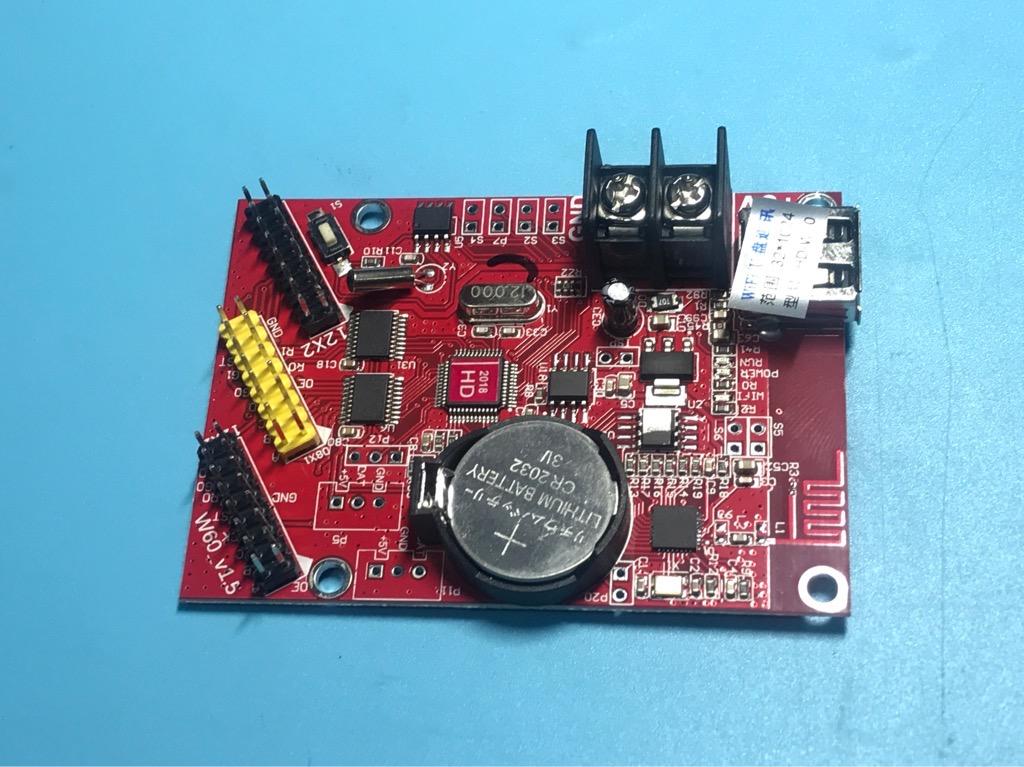 Mạch điều khiển Led ma trận P10 HD W60 đa sắc bằng wifi 2 hàng