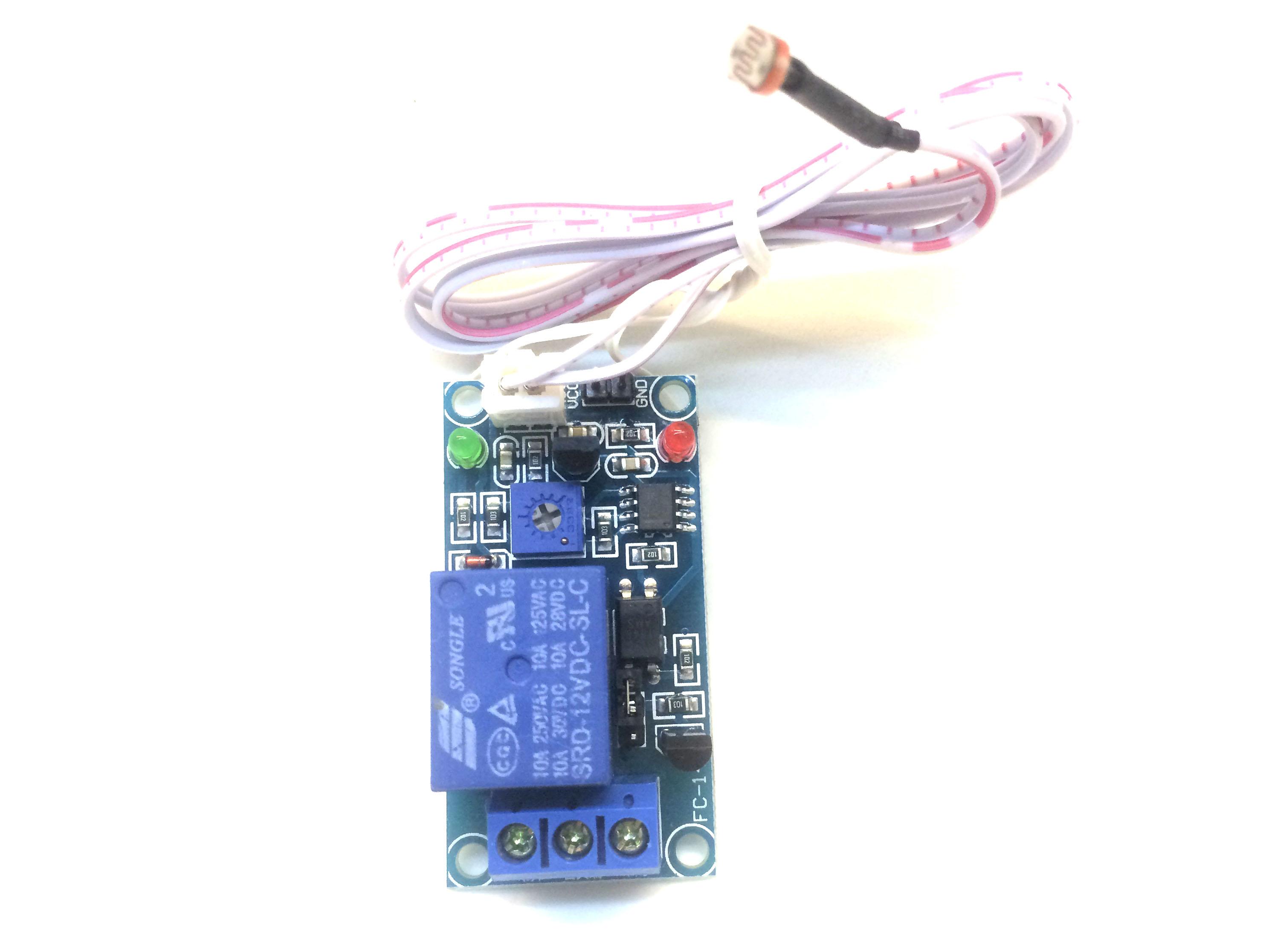 Cảm biến ánh sáng dây dài có relay 5V