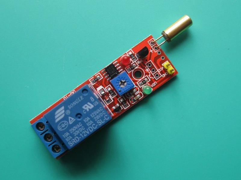 Cảm biến góc nghiêng 12V có relay