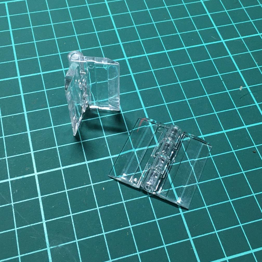 Bản lề nhựa mica 3cm trong suốt