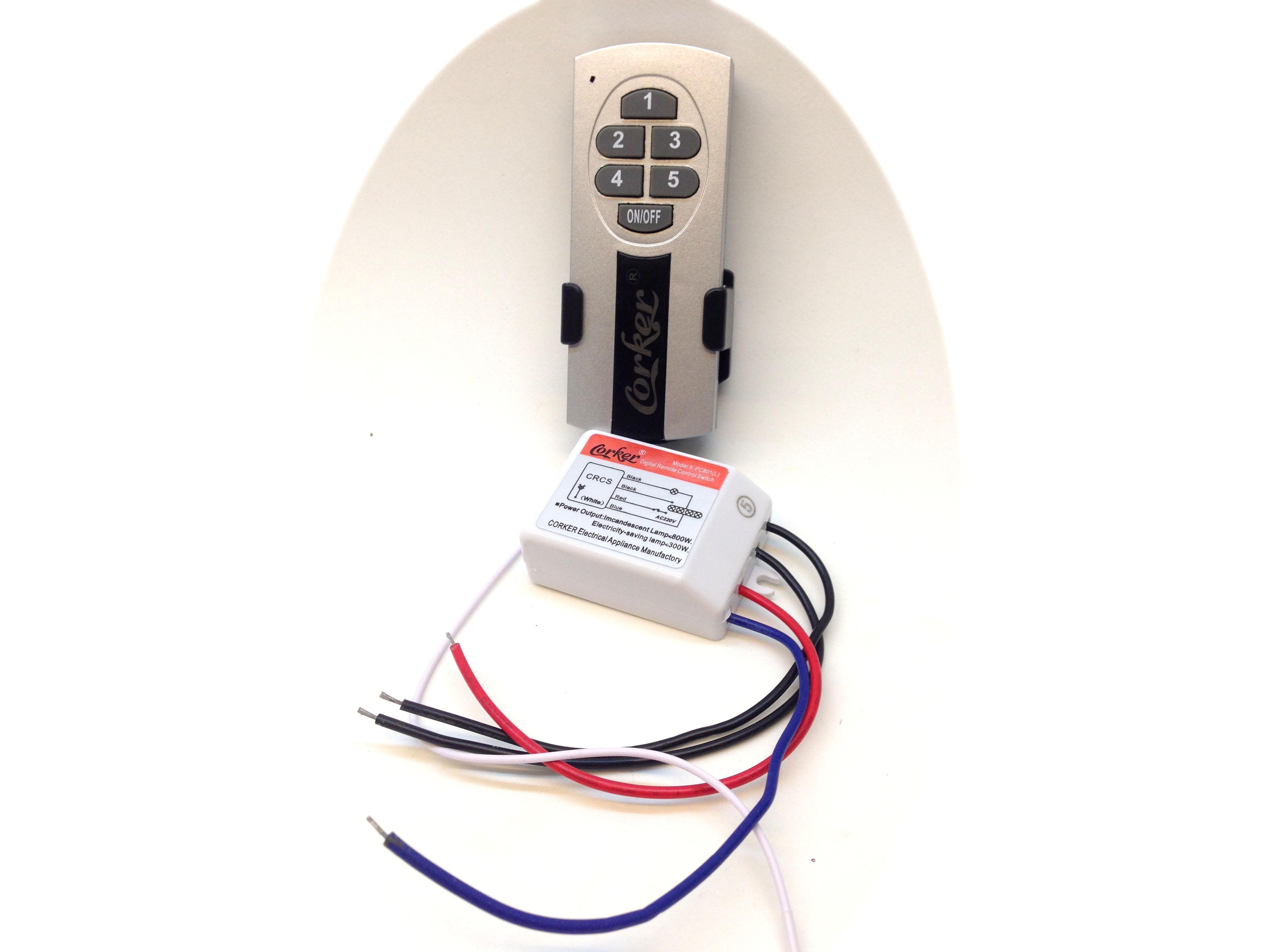 Công tắc điều khiển từ xa 5 kênh 220V độc lập có khiển