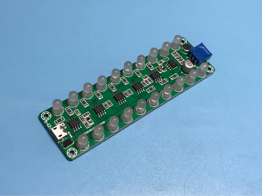 Bảng đèn LED nhấp nháy theo âm thanh 5-12V USB micro 5V