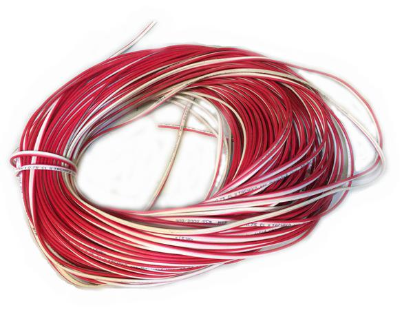 Dây điện đôi 0.75mmx2 đỏ trắng