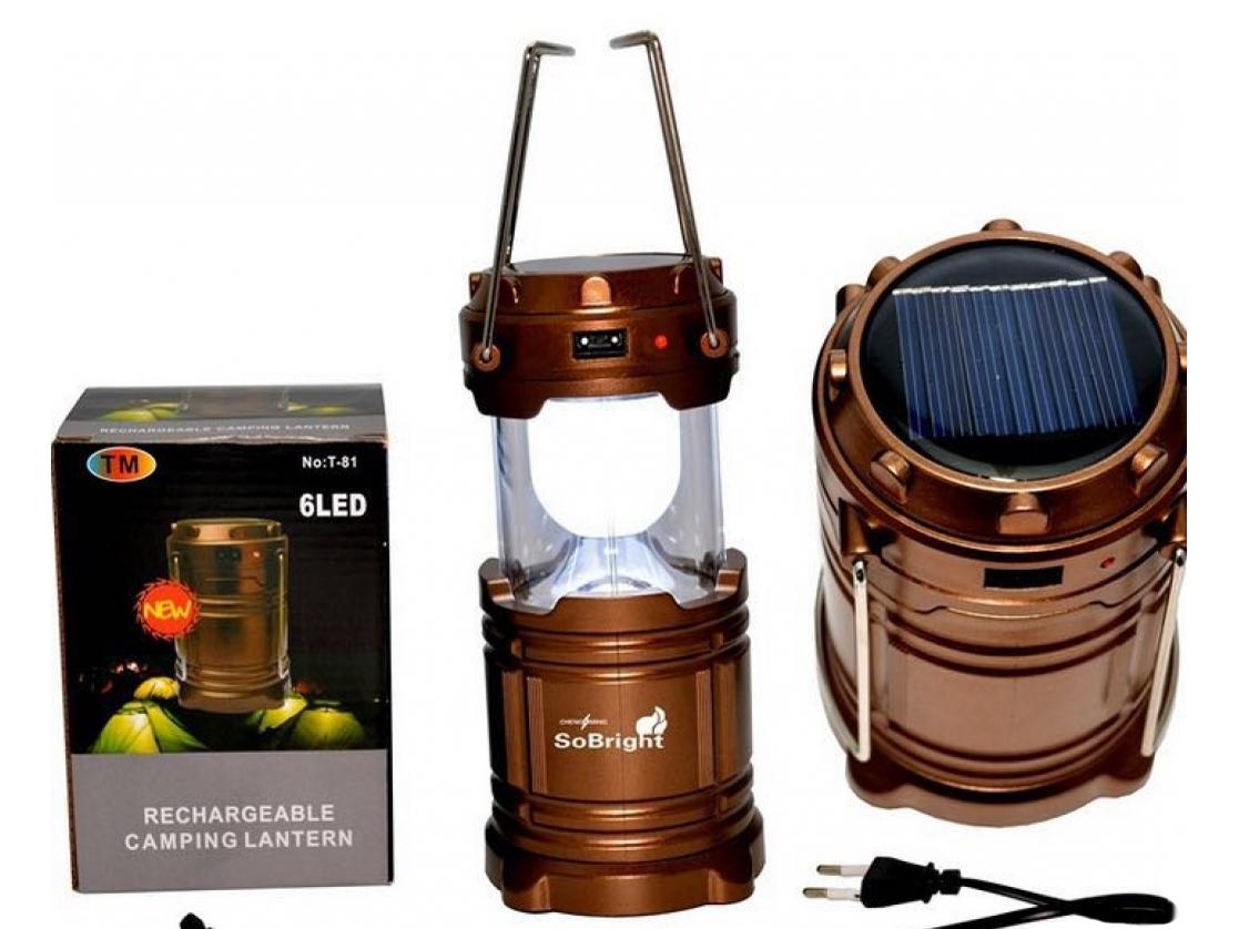 Đèn Sạc Năng Lượng Mặt Trời 1W+6 LED - JY5800T