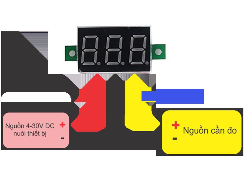 Led đo điện áp DC 0V - 30V 3 dây 0.28inh