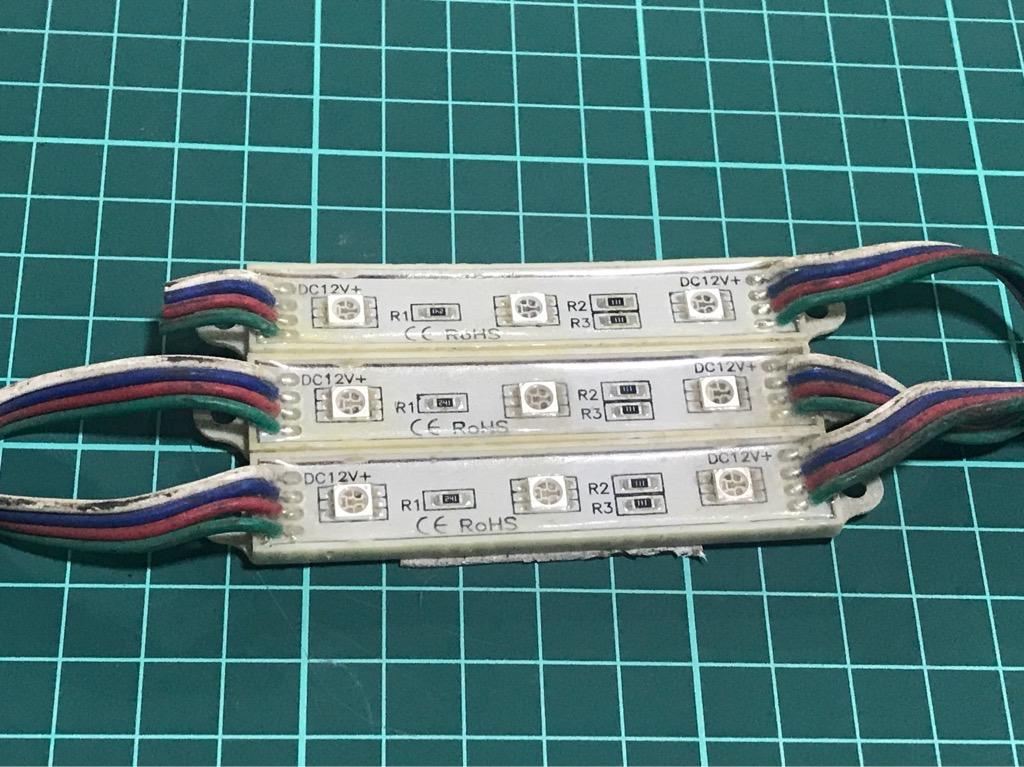 Led thanh 3 bóng đa sắc RGB 12V