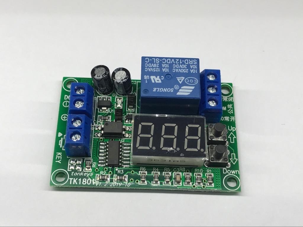 Module hẹn giờ đếm ngược 3 số 12V có Key khởi động