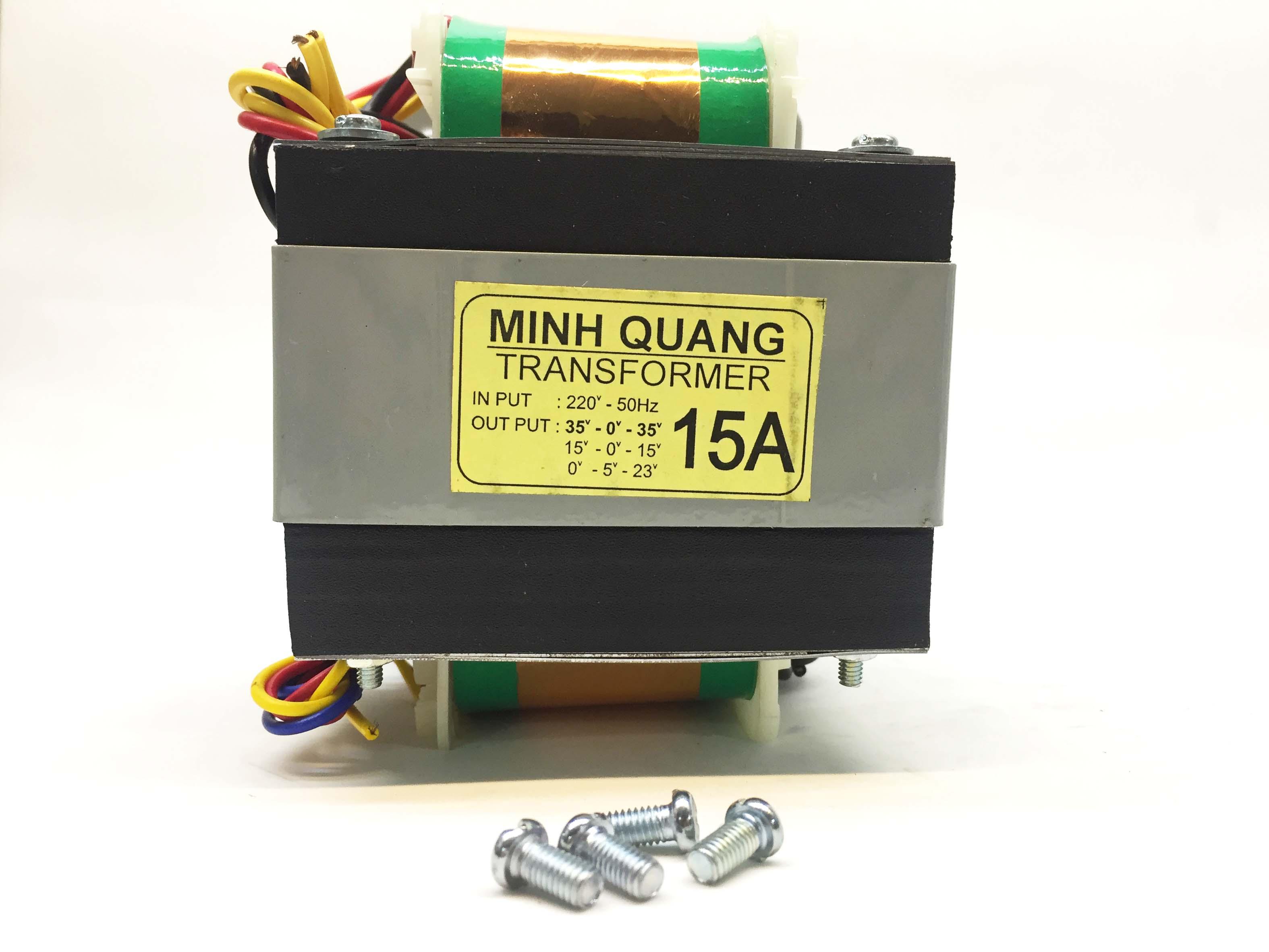 Nguồn biến áp 15A 15V 35V đối xứng