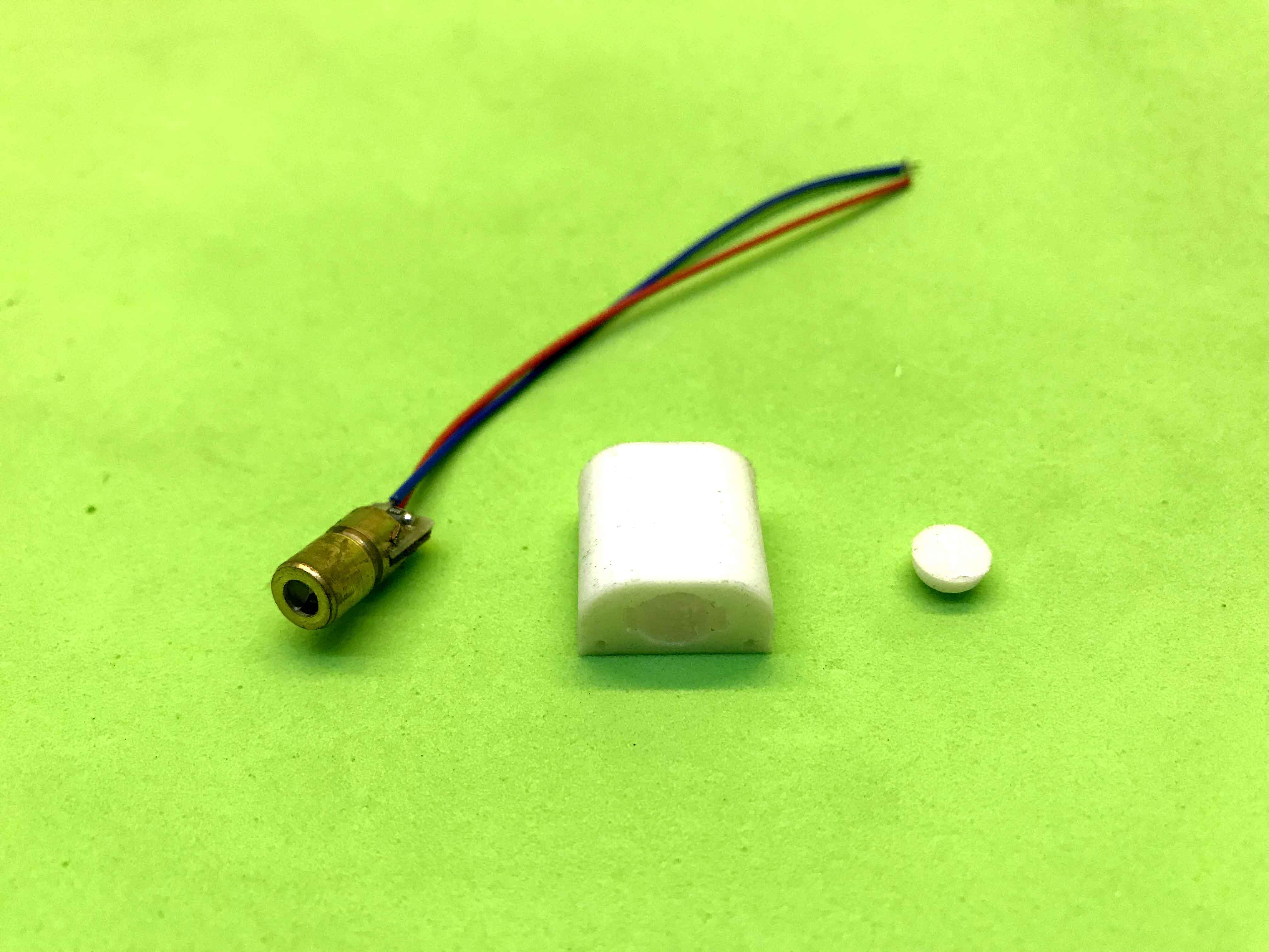 Laser 3V 0.5mW điểm tròn có gá đỡ