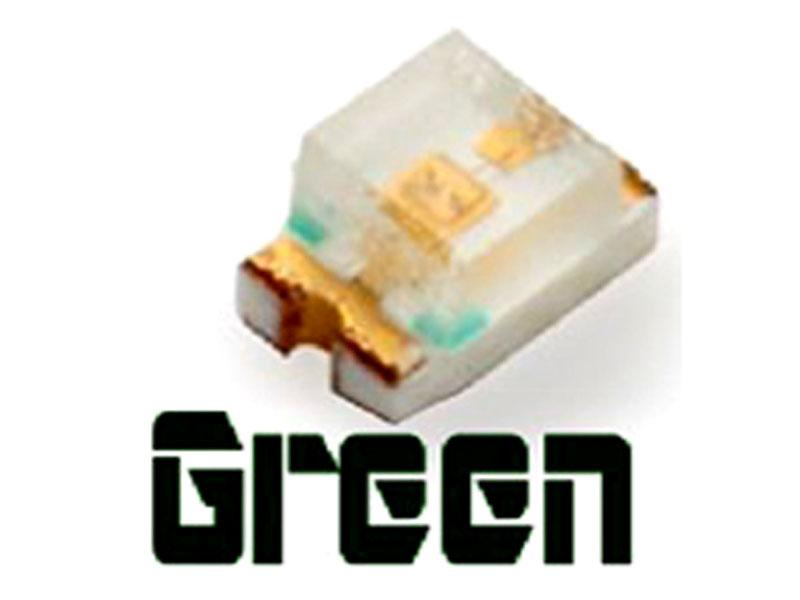 10 chiếc LED dán SMD 0805 màu xanh lá cây