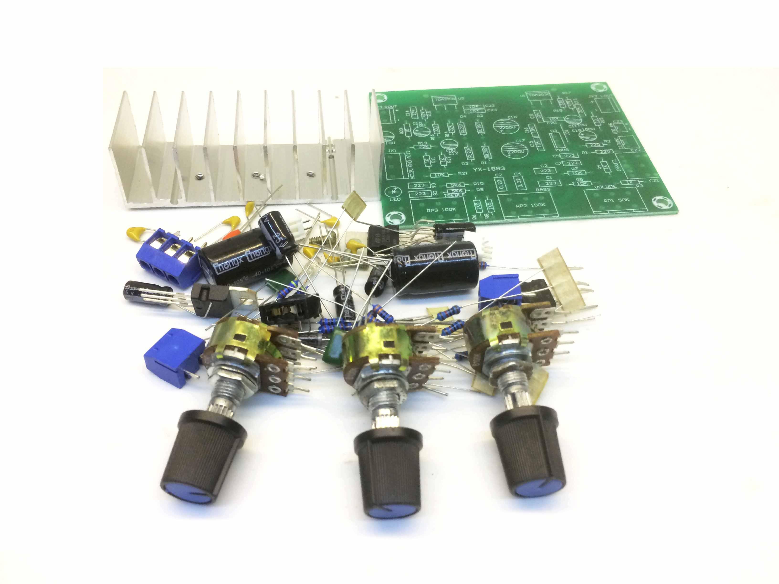 Mạch công suất 15Wx2 TDA2030A tự ráp