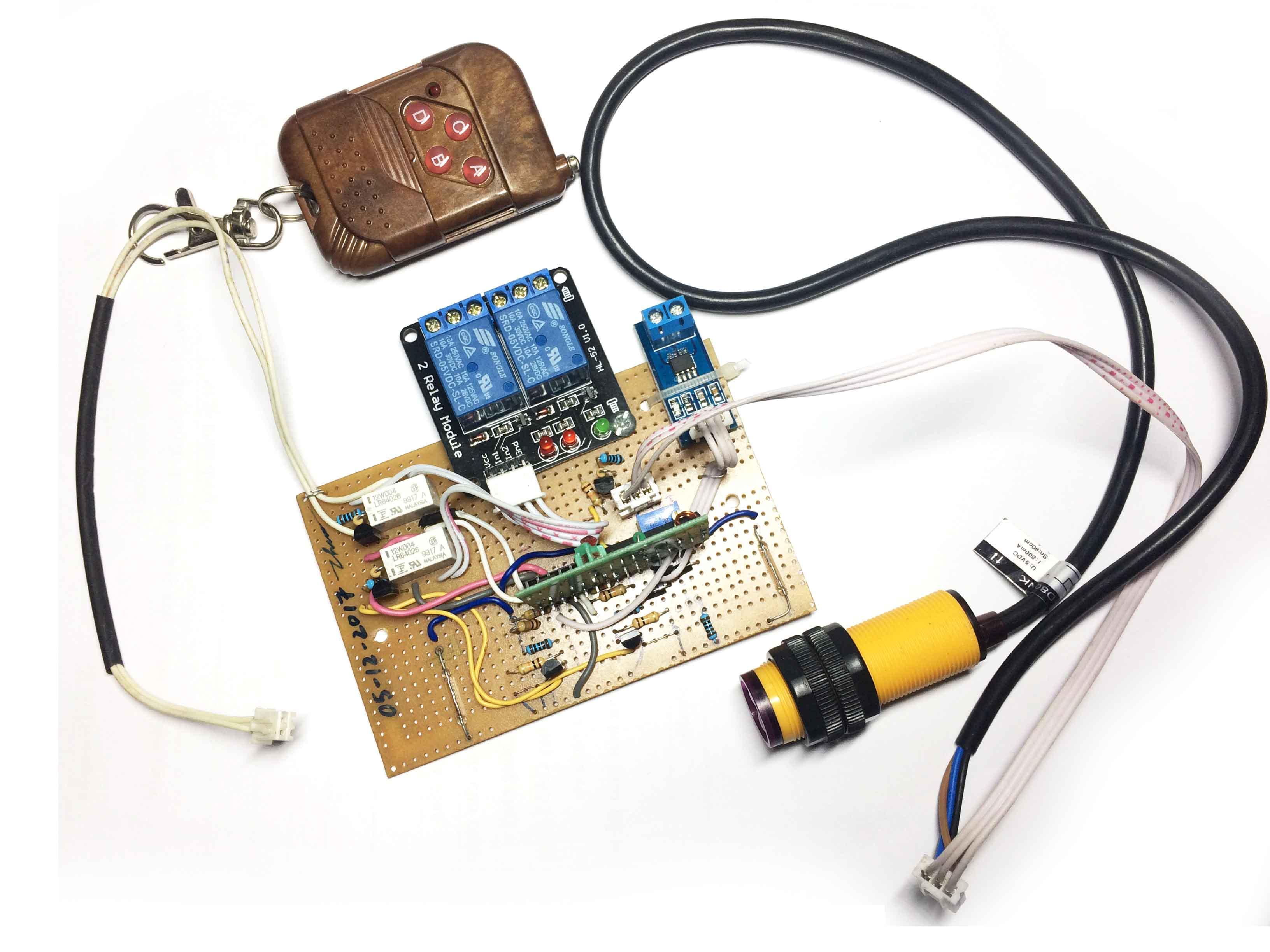 Bộ đảo chiều động cơ dùng cảm biến từ có khiển từ xa
