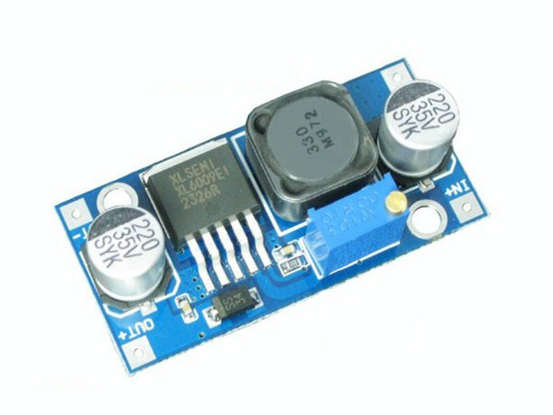 Module tăng áp DC-4A in: 3~32V, out: 5~35V. XL6009