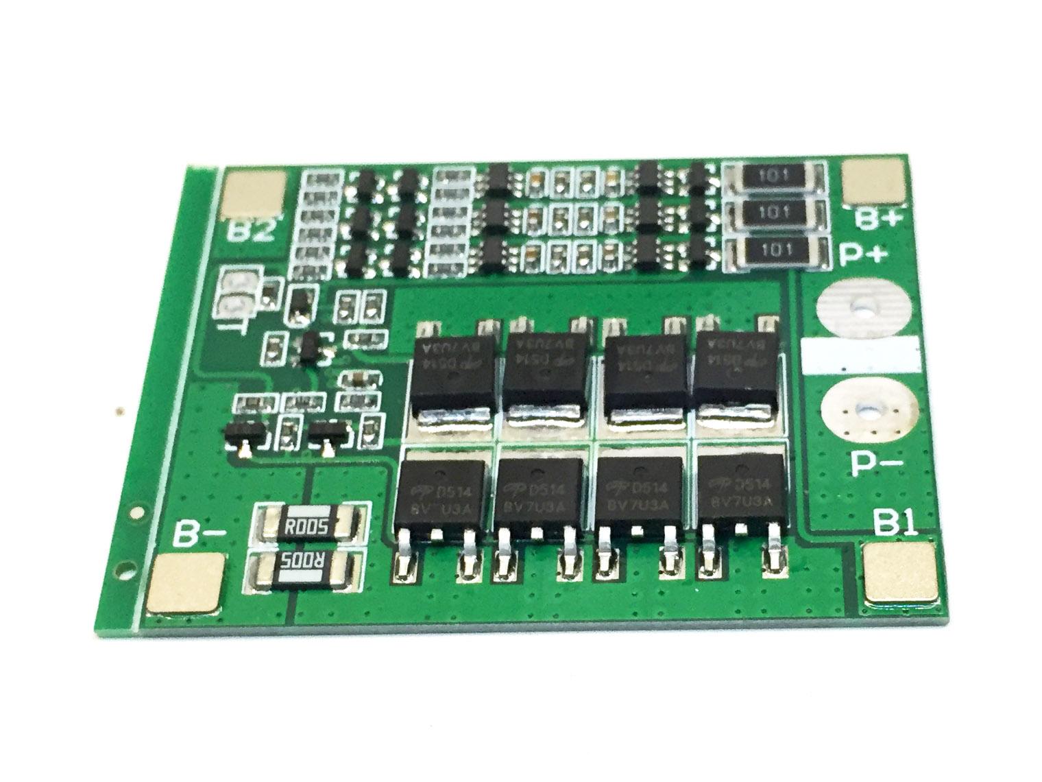 Mạch sạc và bảo vệ 3 pin 12V 18650