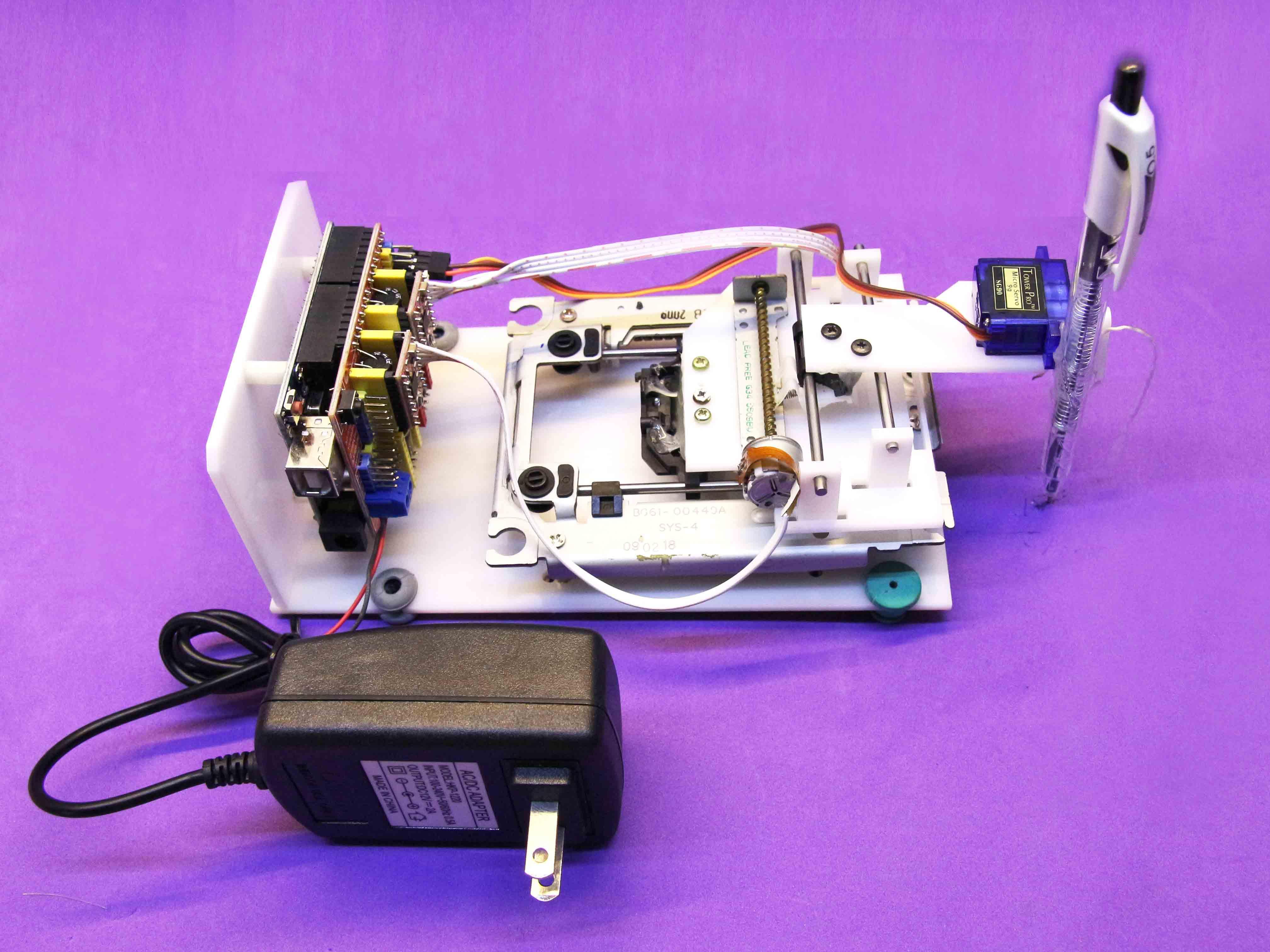 Máy vẽ CNC shield V3 arduino R3 mini lắp ráp