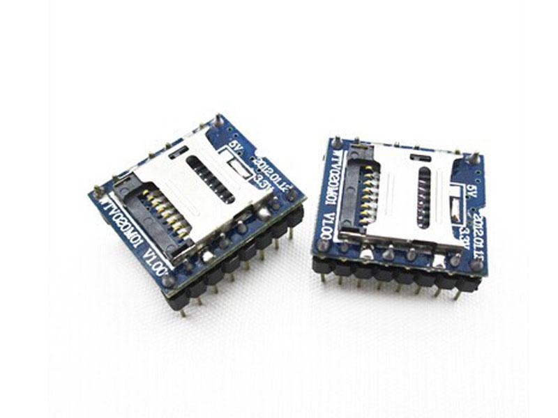 Module WTV020-SD điều khiển âm thanh mp3 trên thẻ nhớ SD